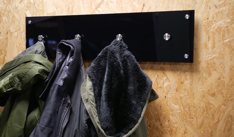 DIY acrylic coat rack