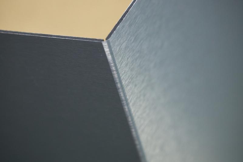 aluminium panel folded