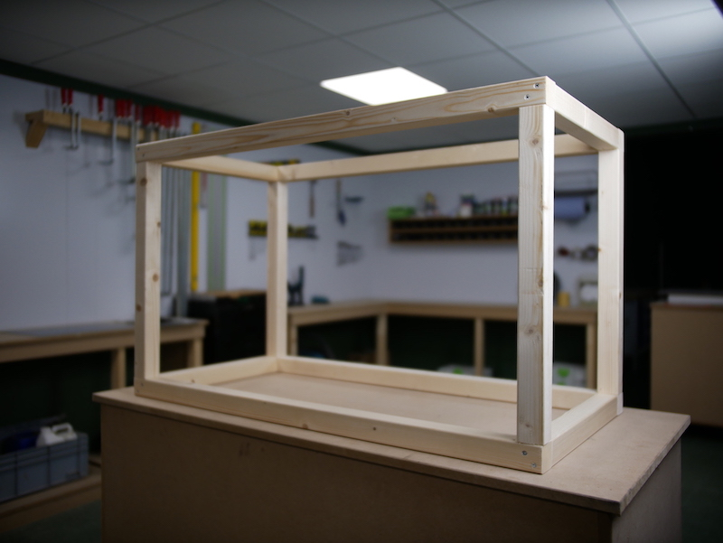 wooden frame for HPL toy box