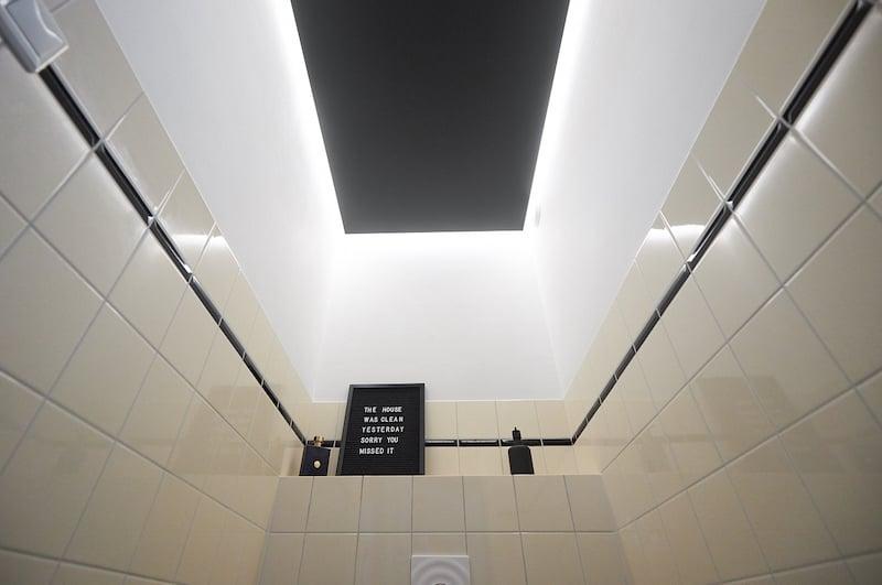 bathroom ceiling cladding diy