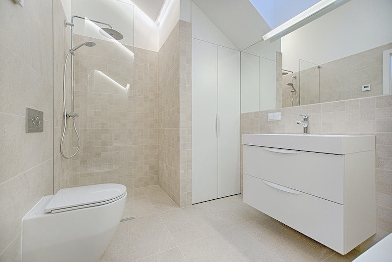 bathroom make over acrylic shower screen