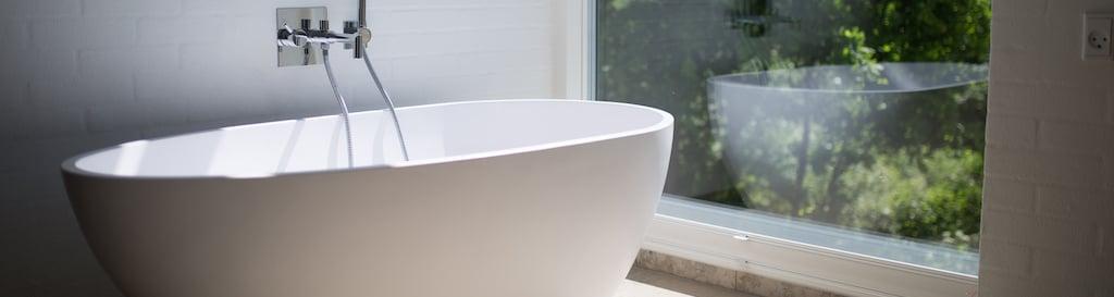 Bathroom window privacy transparent glass