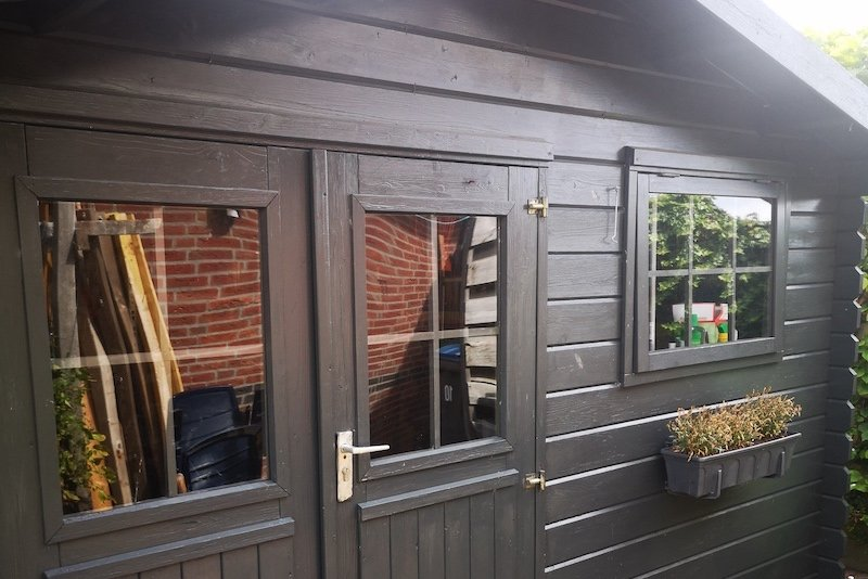 Replacing shed windows with perspex