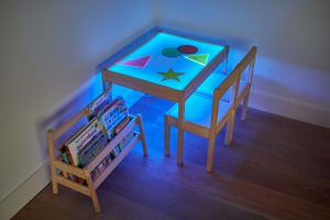 DIY light table blue led