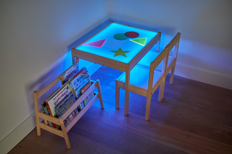 DIY light table blue led