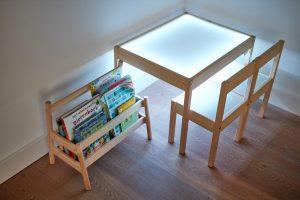 DIY light table end result white led