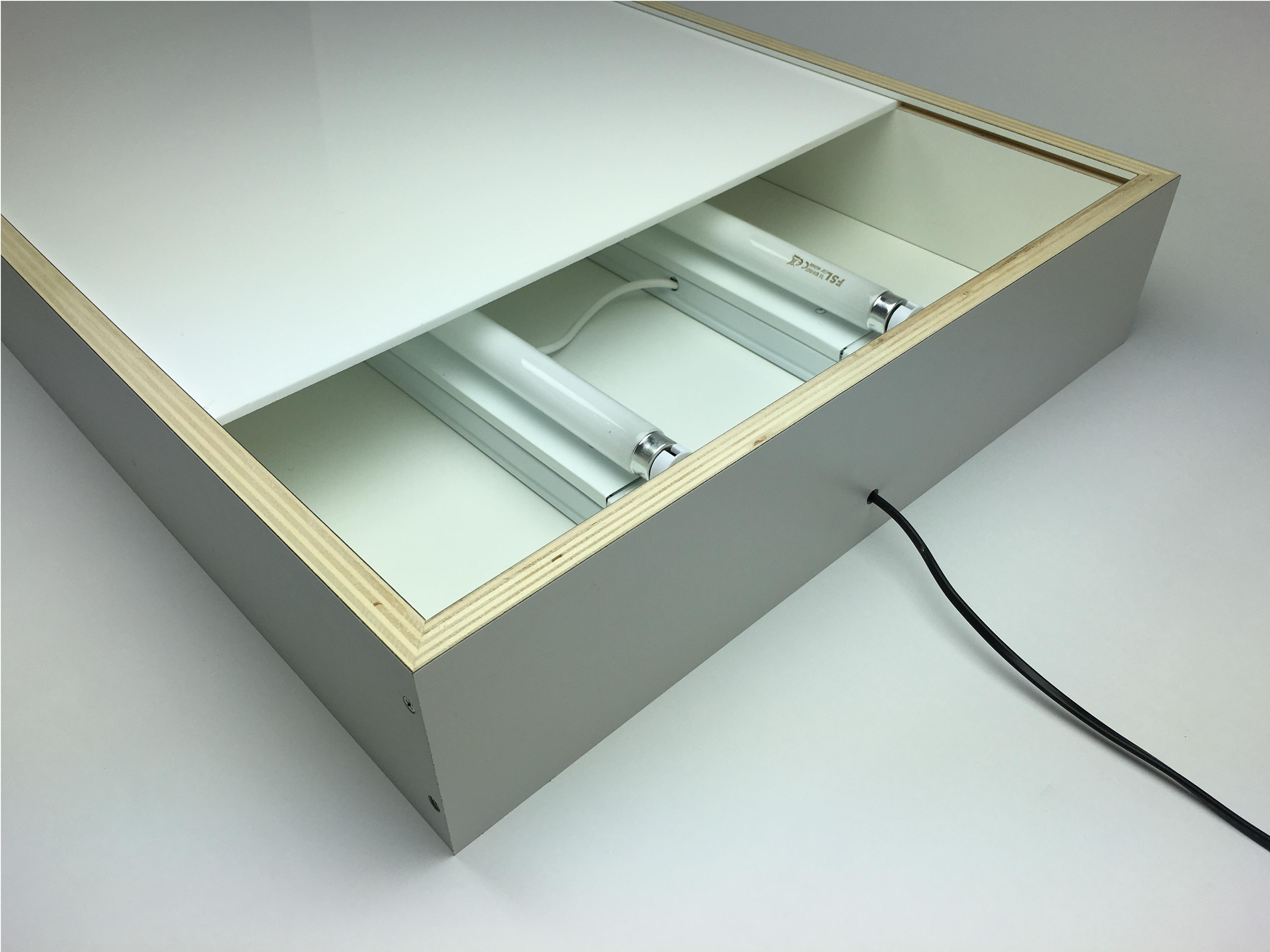 DIY lightbox assemble acrylic