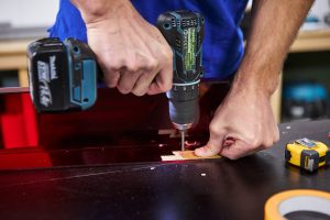 how to make a picture shelf drilling holes