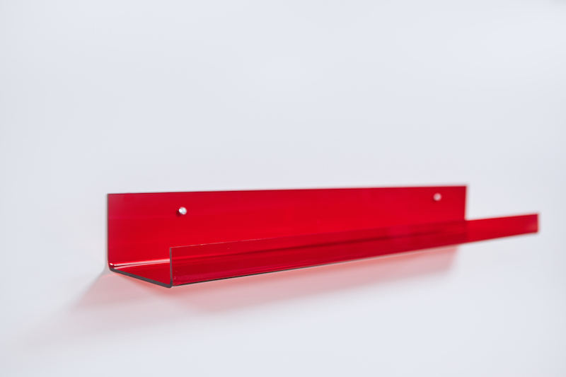how to make a picture shelf end result red acrylic