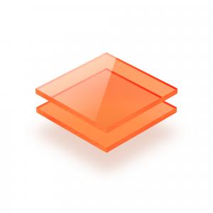 Fluorescent acrylic sheet orange