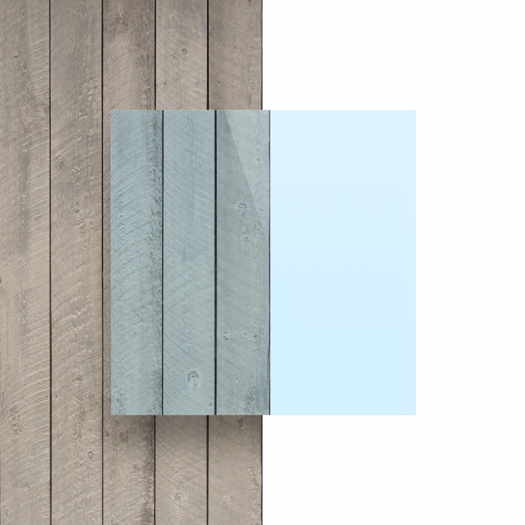 Front acrylic sheet fluorescent blue