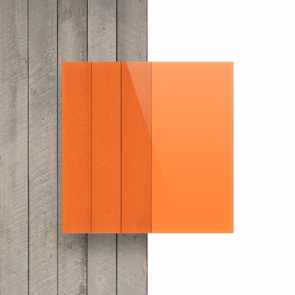Front acrylic sheet fluorescent orange