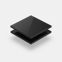 Range of black acrylic sheets