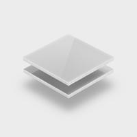 Range of white acrylic sheets