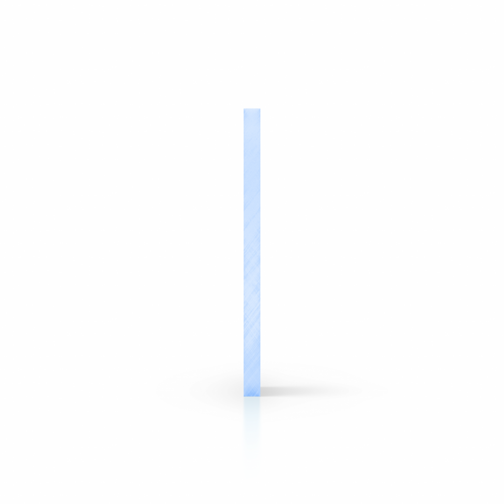 Side acrylic sheet fluorescent blue